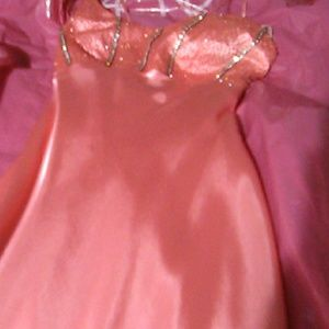 Caché silk peach dress